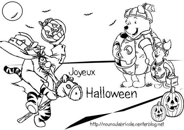 Coloriage winnie halloween tchoupi halloween coloriage - Dessin winnie ...