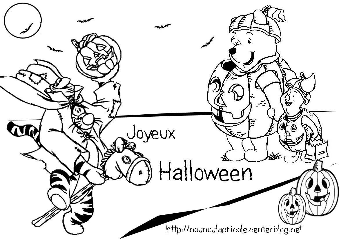 Coloriage winnie halloween - Coloriage d ourson ...