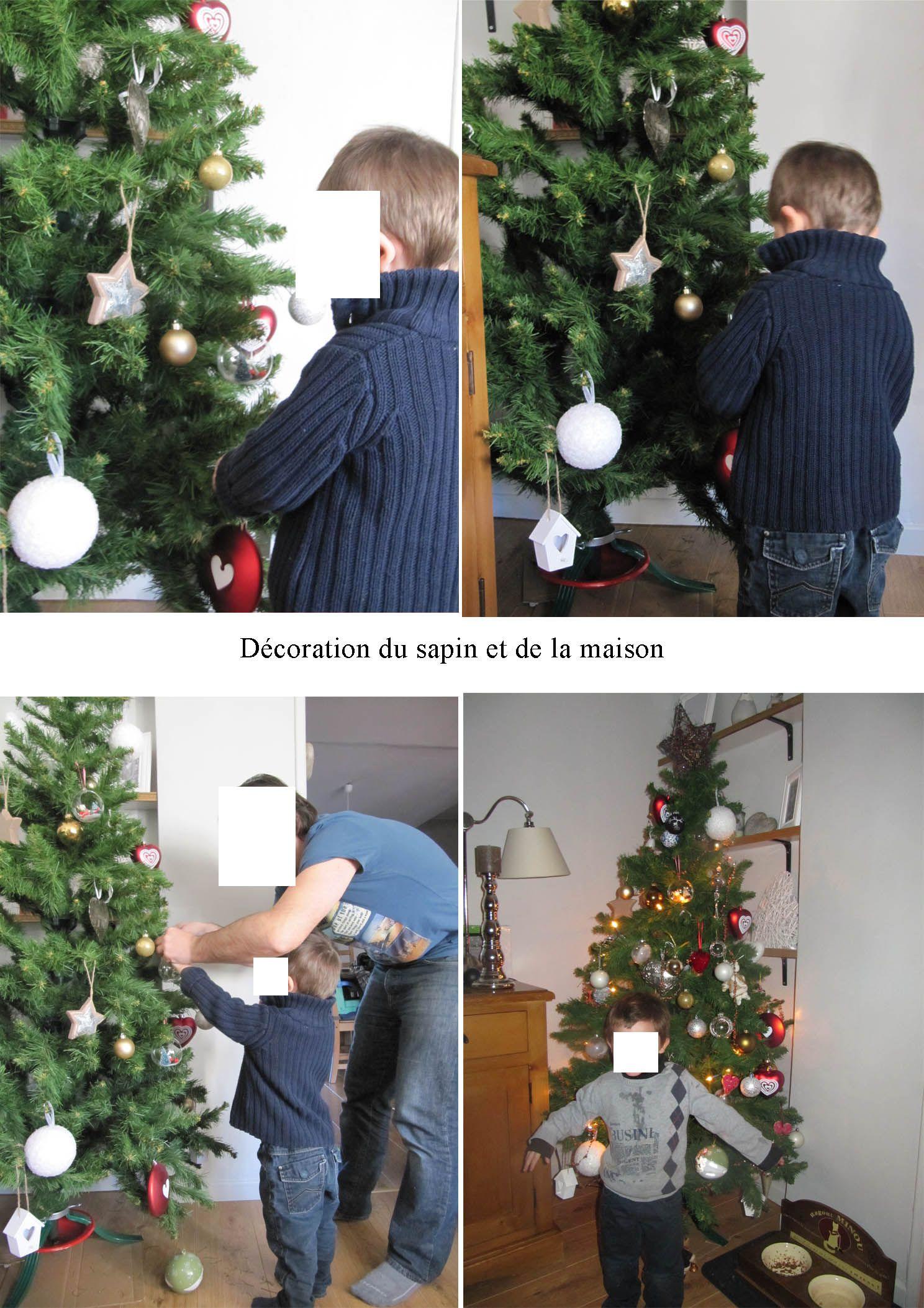 D coration du sapin de no l et de la maison - Decoration de noel pour la maison ...